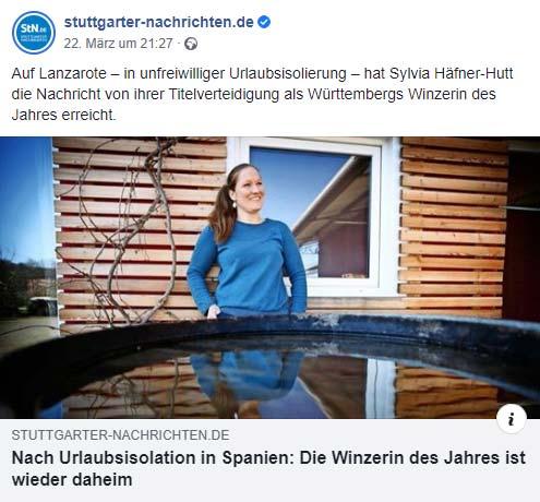 Artikel Stuttgarter Nachrichten